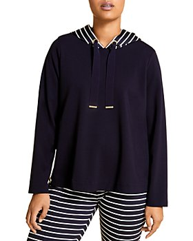 Marina Rinaldi - Oblativo Striped Hood Sweatshirt