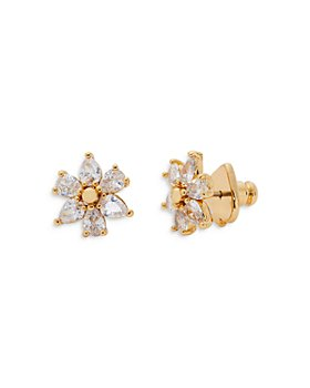 kate spade new york - First Bloom Cubic Zirconia Flower Stud Earrings in 14K Gold Plate