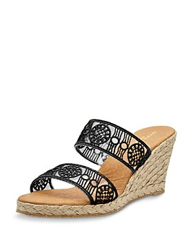 Andre Assous - Women's Anja Slip On Espadrille Wedge Sandals