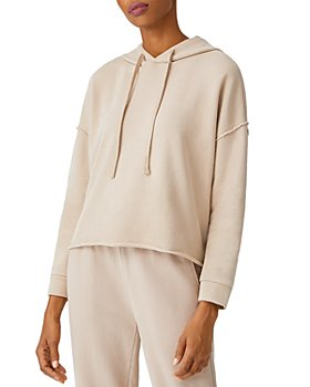 Eileen Fisher - Cropped Boxy Cotton Hoodie
