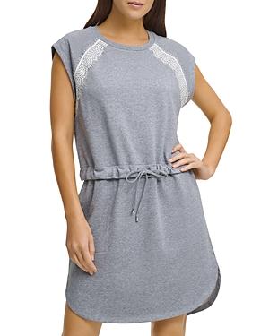 Dkny Dresses LACE TRIM SWEATSHIRT DRESS