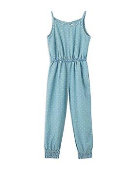 Peek Kids - Girls' Heart Print Jumpsuit - Little Kid, Big Kid
