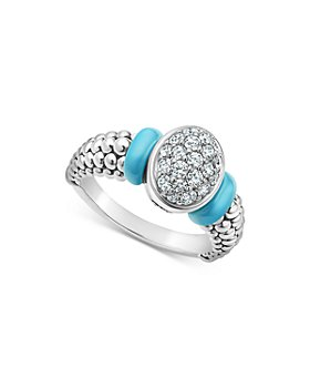 LAGOS - Blue Caviar & Diamond Sterling Silver Statement Ring