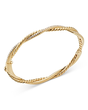 David Yurman 18K YELLOW GOLD PETITE INFINITY BRACELET WITH DIAMONDS