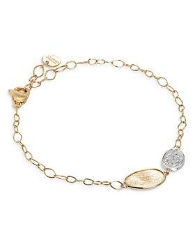 Marco Bicego - 18K Yellow & White Gold Lunaria Diamond Station Bracelet