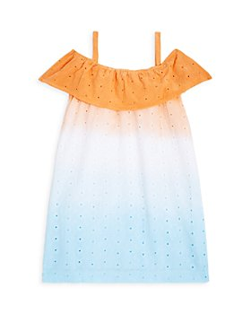 Sovereign Code - Girls' Meilani Dip Dye Ruffle Eyelet Dress - Little Kid, Big Kid