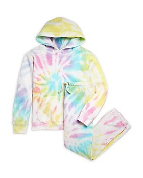 Vintage Havana - Girls' Tie Dye Pullover Hoodie & Jogger Pants - Little Kid, Big Kid