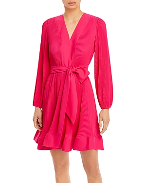 Milly LIV TIE WAIST FIT AND FLARE DRESS