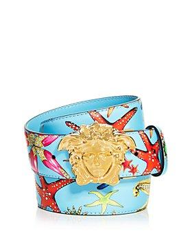 Versace - Men's Tresor da la Mer Print Reversible Leather Belt