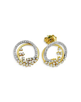 OWN YOUR STORY - 14K Yellow Gold Cosmos Diamond Galaxy Earrings