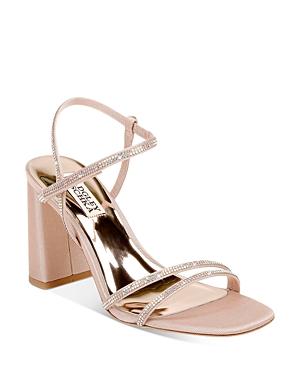 Women's Rebekah Square Toe Crystal Embellished Block Heel Sandals