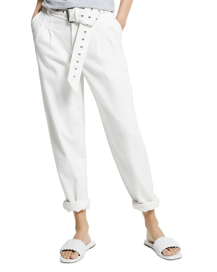 MICHAEL Michael Kors - Pleated Belted Jeans