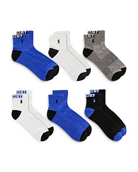 Polo Ralph Lauren - Polo Racing Quarter Socks, Set of 6