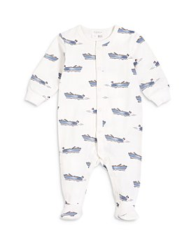 FIRSTS by petit lem - Boys' Boat Print Sleeper Footie - Baby