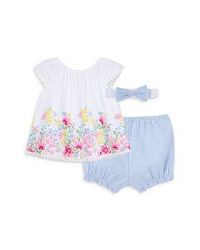 Little Me - Girls' Floral 3-Piece Sunsuit Set - Baby