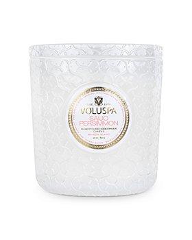 Voluspa - Saijo Persimmon Embossed Glass Triple Wick Luxe Candle 30 oz.
