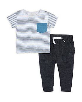 Miniclasix - Boys' Striped Tee & Jogger Pants Set - Baby