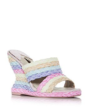 Sophia Webster - Women's Ines Woven Wedge Espadrille Slide Sandals
