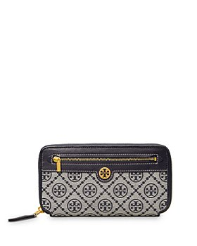 Tory Burch - T Monogram Jacquard Zip Wallet