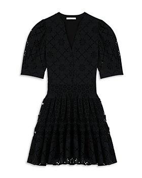 Maje - Rayanette A Line Eyelet Dress