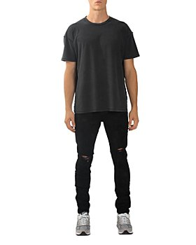 Purple Brand - Slim Fit Overdyed Jeans in Black Oil Spill