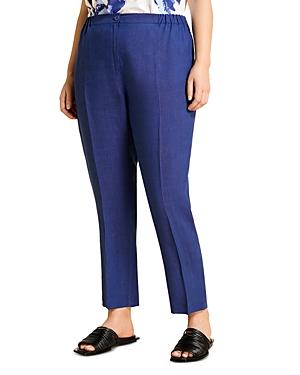 Marina Rinaldi Regione Linen Slim Straight Trousers