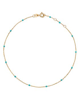 Moon & Meadow - 14K Yellow Gold and Bead Chain Ankle Bracelet - 100% Exclusive