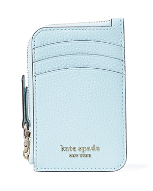 Kate Spade KATE SPADE NEW YORK ROULETTE PEBBLED LEATHER ZIP AROUND CARDHOLDER