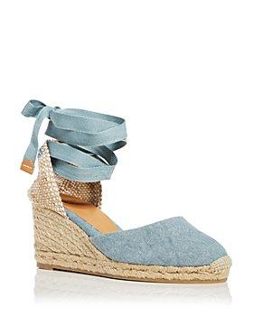 Castañer - Women's Carina Ankle Tie Espadrille Wedge Sandals