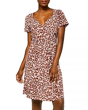 Printed Sweetheart Dress