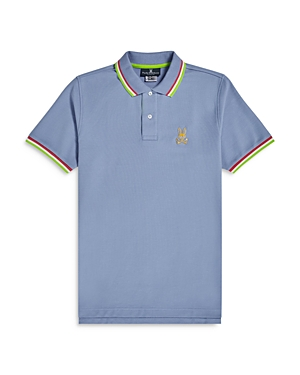 Psycho Bunny Cottons ST. LUCIA TIPPED POLO SHIRT