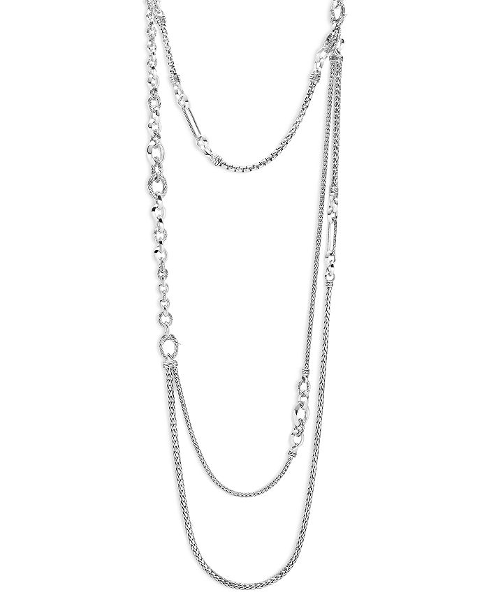 John Hardy STERLING SILVER CLASSIC CHAIN LAYERED NECKLACE, 34