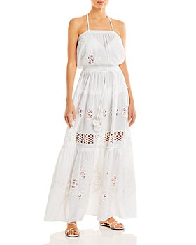 Ramy Brook - Vienna Lace Inset Maxi Swim Cover-Up