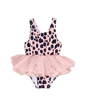 Huxbaby - Girls' Animal Print Ballet One Piece Swimsuit - Baby