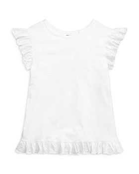 Ralph Lauren - Girls' Eyelet Ruffle Top - Little Kid, Big Kid