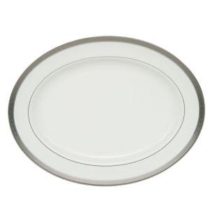 Waterford Crystal Newgrange Platinum Oval Platter