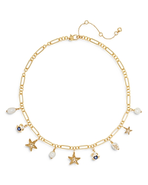 kate spade new york Sea Star Cubic Zirconia, Imitation & Cultured Freshwater Pearl (8mm) Starfish Ch