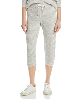 Cropped Ribbed Pull On Pants