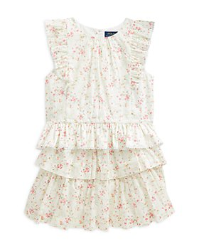 Ralph Lauren - Girls' Ruffled Top & Skirt Set - Little Kid, Big Kid