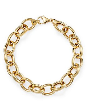 Bloomingdale's - Thick Oval Link Chain Bracelet in 14K Yellow Gold - 100% Exclusive