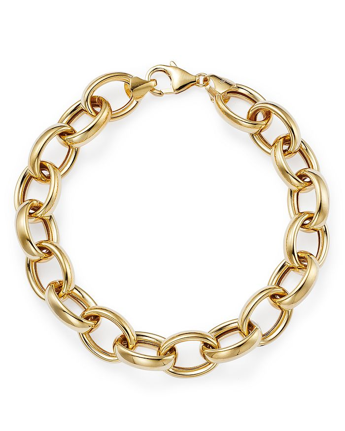 Bloomingdale's THICK OVAL LINK CHAIN BRACELET IN 14K YELLOW GOLD - 100% EXCLUSIVE