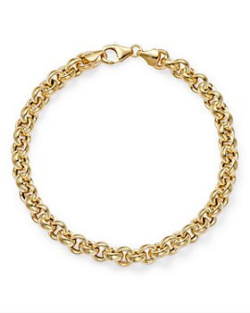 Bloomingdale's - Small Multi Link Chain Bracelet in 14K Yellow Gold - 100% Exclusive