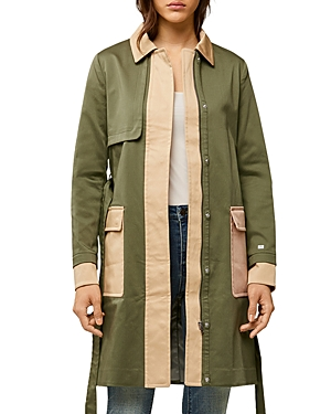 Soia & Kyo Marni Color Block Trench Coat