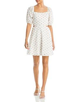Lucy Paris - Floral Cutout Mini Dress