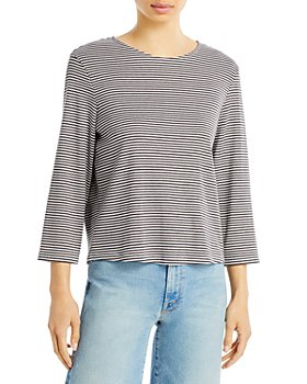 Theory - Lowell Square Striped Tee