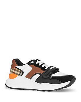 Burberry - Women's Ramsey Leather, Suede & Vintage Check Sneakers