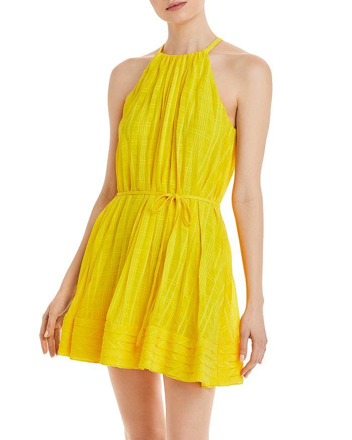 Ramy Brook Mini dresses BOBBI PLAID HALTER MINI DRESS