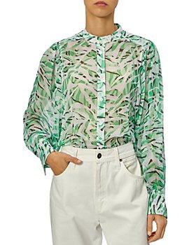 Equipment - Chayce Animal Print Silk Shirt