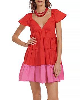 STAUD - Corsica Tiered Mini Dress