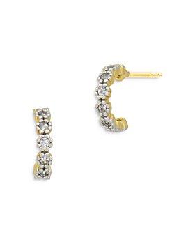 Freida Rothman - Pave Mini Half Hoop Earrings